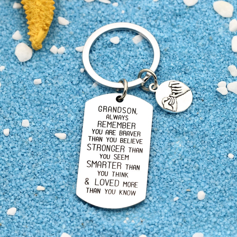 Always Remember You are Braver Keychain Keyring Silver Key Pendant Keyfob for Unisex Inspiration Gift