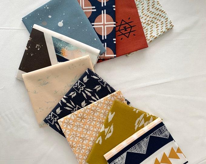 "Curated Fat Quarter Bundle- Art Gallery Fabrics ""Colour / color masters April Rhodes edition"" - 10 fat quarters"