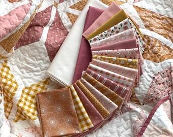 Suzy quilts 'Holiday Party' fabric bundle kit - throw size  (Bella, Art Gallery Fabrics, Figo)