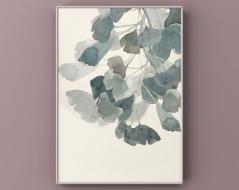 Ginkgo Biloba Poster Serie, versch. Farbvariationen, DIN A3, DIN A4 oder DIN A5, hochwertiger Druck, nummeriert und handsigniert