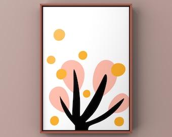 "Set of 2 Posters ""Fall"" & ""Lotus"" ,digital Download, PDF,Din a 4, printable"
