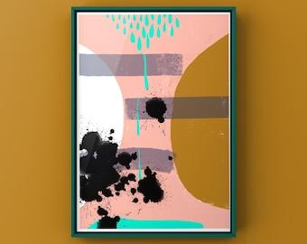 "Poster ""Dimensions"", digital Download, DIN A 4, Digital abstract Art"