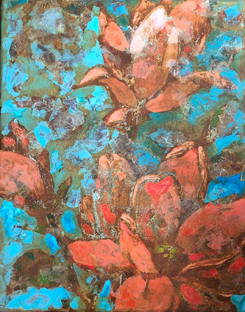 Rusty Floral with mica