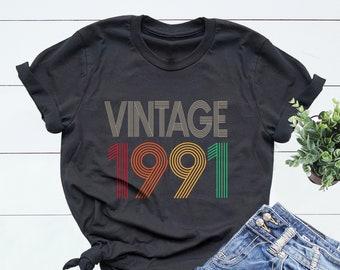30th Birthday Shirt,Vintage 1991 Shirt,30th Birthday Gift For Women,30th Birthday Gift For Men,30th Birthday Best Friend,30th Birthday Woman
