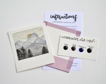 Mini Painting Kit- Mountains
