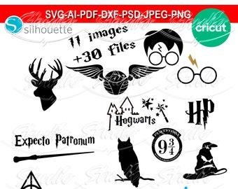 Harry Potter Svg Files For Cricut Etsy