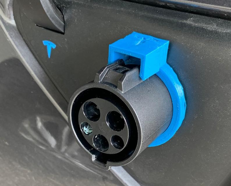 J1772 Charger Adapter Lock for Tesla Model 3  Multiple Colors image 1