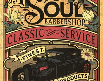 good old soul barbershop classic poster 2021 trending