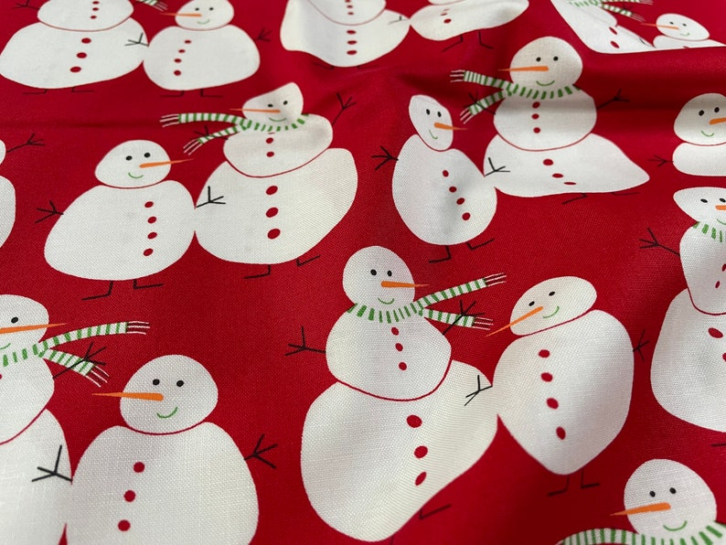 Merry & Bright Poinsettia Red Snowmen by Me and My image 1