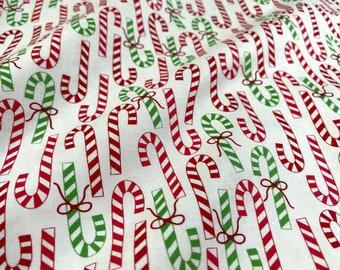 Merry & Bright Winter White Candy Canes by Me and My Sister's Designs for Moda Fabrics - 22402-13
