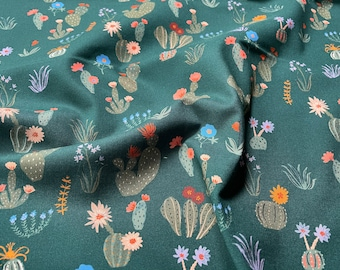 Arid Wilderness Prickly Floral by Louise Cunningham for Cloud9 Fabrics - Organic - 227051