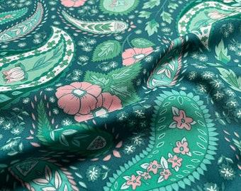 Flowerette Cultivating Boteh - Art Gallery Fabrics FWR-34888