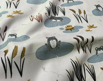 Pond Life Here Little Froggy Water by Indico Designs for RJR Fabrics - ID101-WA2