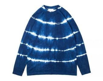 Indigo Union Japanese Organic Brown Plant Dyed Handmade Cotton Fabrics Unisex Japanese Short Sleeve Henley Tee