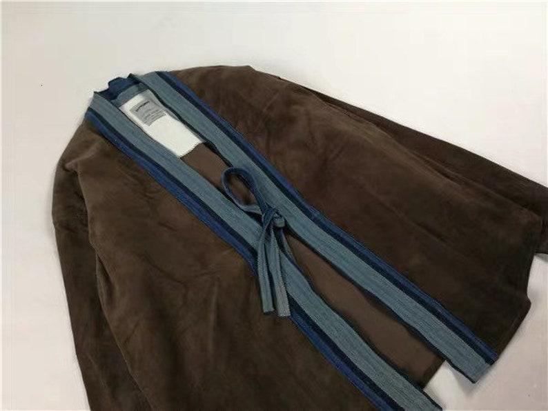 Indigo Union Handmade Corduroy Dyed Fabrics Unisex Japanese Traditional Kimono Noragi Shirt 2 colors