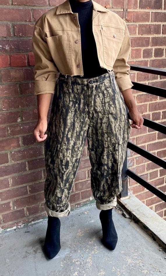 Vintage Brown Hunting Surplus Pant, hunting pants,