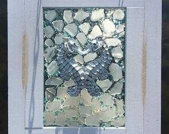 Beach Glass Window Art, Sea Glass Window Art, Beach Glass Art, Sea Glass Art, Beach Glass Window, Sea Glass Window, Coastal Art, Window Art