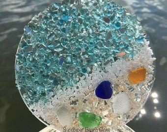 Beach Glass Suncatcher, Sea Glass Suncatcher, Suncatcher, Beach Glass, Sea Glass, Coastal Suncatcher, Sun Catcher, Beach Glass Ornament