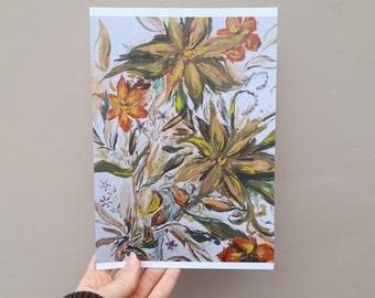painted flower print