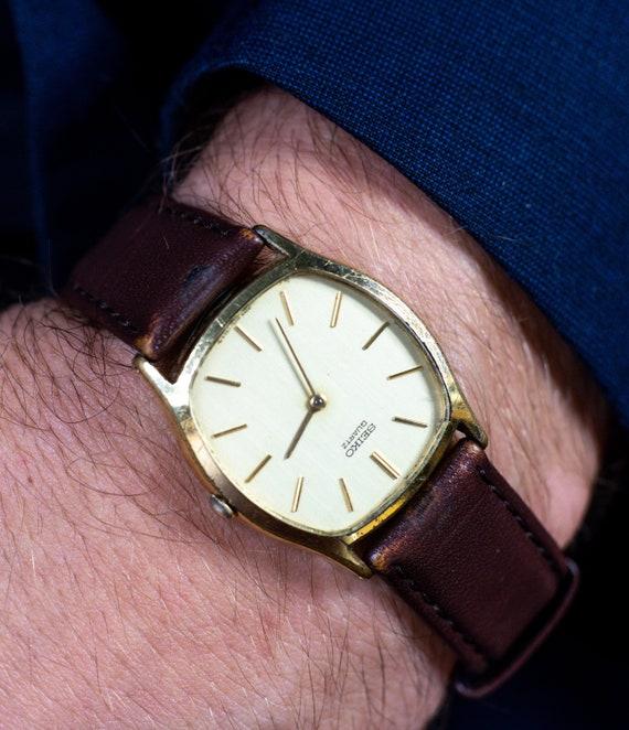 Seiko Gentelman Brown Leather Watch Quartz Seiko W