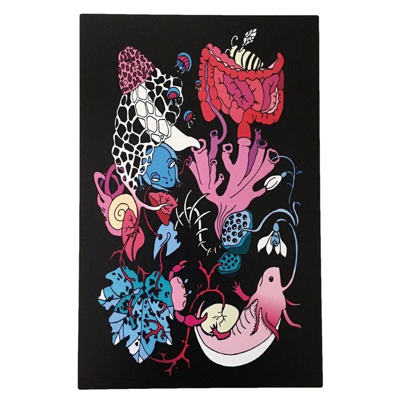 Colorful Creatures Art Print Illustration  image 1