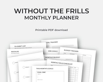 Minimalistic Monthly Planner Printable