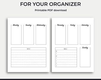Weekly Planner Printable Spread