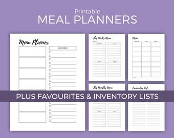 Weekly Meal Planner Printables