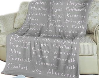 Minky Blanket Fleece Blanket Motivational Quote Blanket Inspirational  Quote Blanket The Light Shines Through the Darkness Blanket
