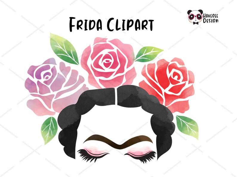 Frida clipart instant download PNG file 300 dpi