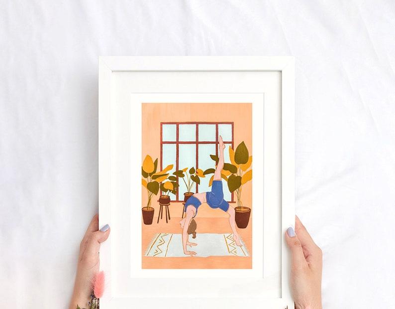 Yoga Gicl\u00e9e Print Yoga Art Yoga Gouache Art Yoga Wall D\u00e9cor Yoga Illustration Yoga Home D\u00e9cor Yoga 10 Art