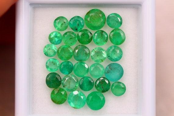 Emerald Gemstone Cabochon Natural Zambian Emerald Gemstone Oval Shape 21x14x8 mm,18 Cts