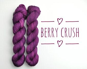 Hand dyed yarn - Merino Nylon Blend - 2ply high twist - 100g/425m - Gift for knitter or crocheter