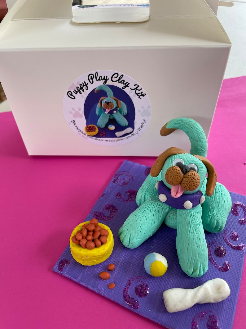 Dog Art Kit Dog Lover Gift Craft Clay. Art Kit For Kids Child/'s Party Craft Puppy Clay Kit Easter Basket Filler Clay Dog