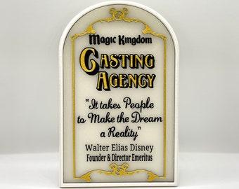Magic Kingdom (Walt Disney World) Casting Agency Window Inspired Sign