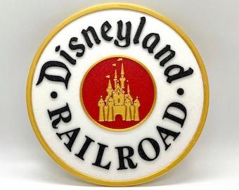 Disneyland Railroad Inspired Sign