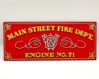 Walt Disney World Main Street Fire Department Inspired Plaque