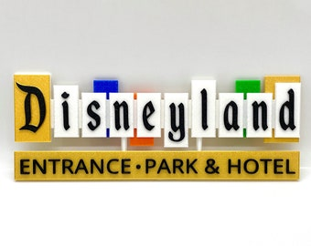 Disneyland Resort Entrance Inspired Sign