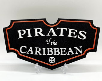 Pirates of the Caribbean Inspired Plaque