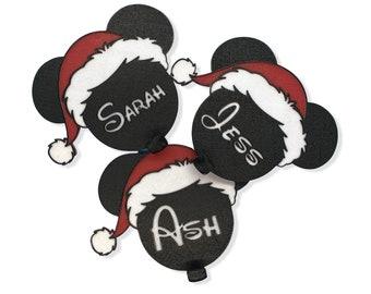 Personalized Santa Mouse Ears Christmas Stocking Hooks