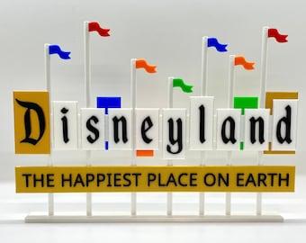 Disneyland Resort Entrance Inspired Standup Sign (Classic Colors)