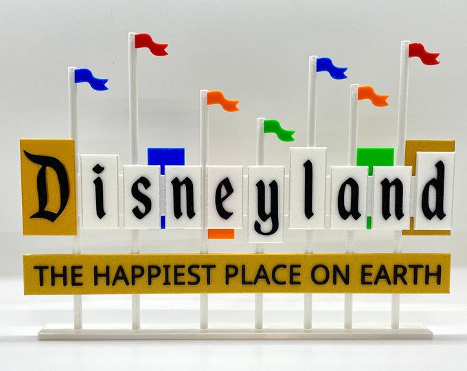 Featured listing image: Disneyland Resort Entrance Inspired Standup Sign (Classic Colors)
