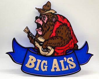 Country Bear Jamboree Big Al's Inspired Sign