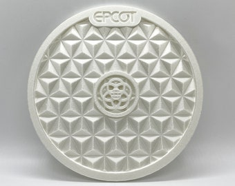 Spaceship Earth Inspired Plaque