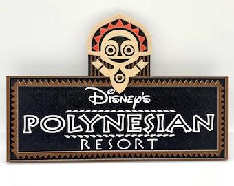 Polynesian Resort Inspired Plaque