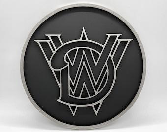 Walt Disney World Railroad Inspired Plaque (Silver and Black)