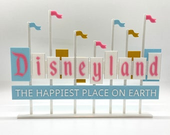 Disneyland Resort Entrance Inspired Standup Sign (Princess Colors)