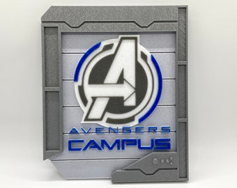 Avengers Campus Inspired Sign