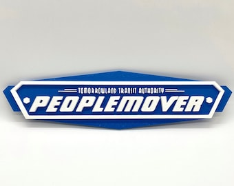 Tomorrowland Transit Authority Peoplemover Inspired Plaque