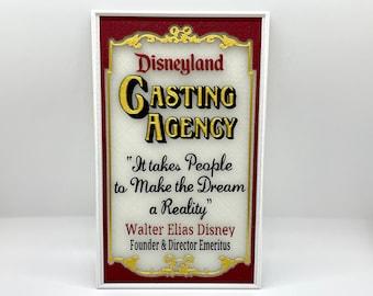 Disneyland Casting Agency Window Inspired Sign